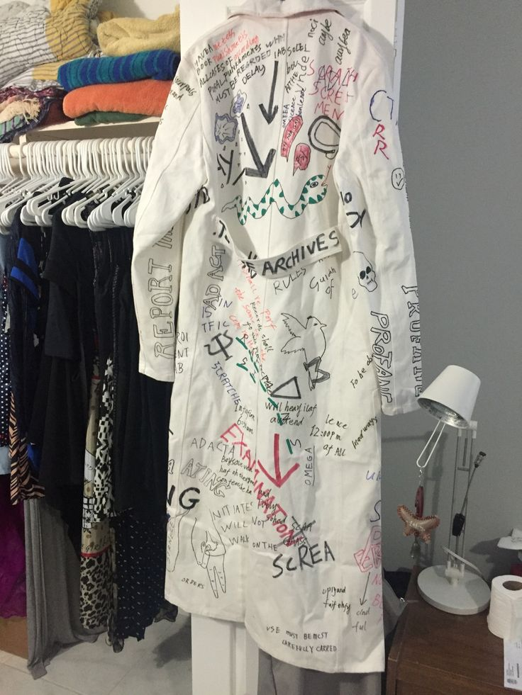 Raf Simons Graffiti Lab Coat Size S 3300 Grailed