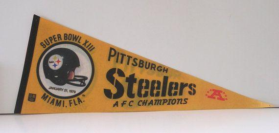 Pittsburgh Steelers~1979 Super Bowl pennant by TreasureByDemand