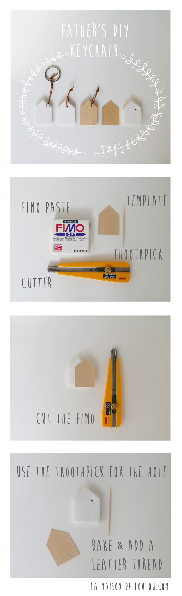 DIY father's day: home keychain by La maison de Loulou