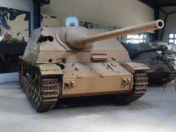 Nazi German Sd.Kfz. 162-1 Jagdpanzer IV-70(A) tank destroyer in the Musée des Blindés, France. #WorldWarII #WWII #WW2 #history #Nazi #German #tanks #panzer #military #museum #travel
