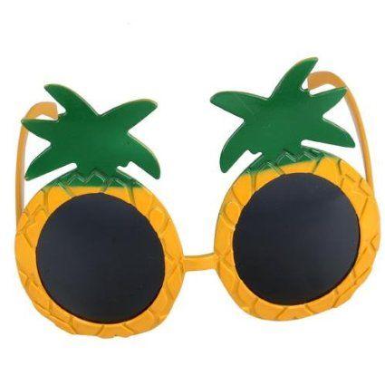 CARCHET® Pineapple Sunglasses Hawaiian Luau Beach Summer Party