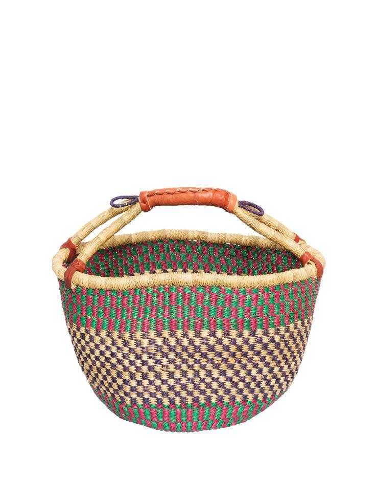 Ghana FairTale Bolga Tote Market Basket from Bolgatanga