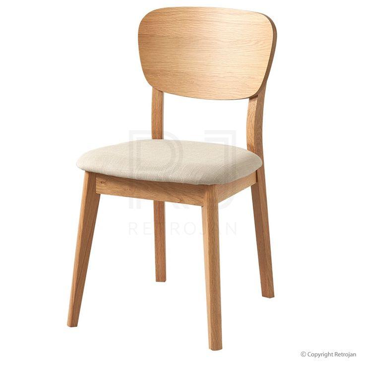 Retrojan Vaasa Bettina Modern Danish Style Veneer Back Chair - Oak