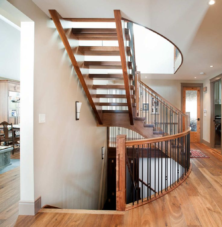 Stairs | Custom Staircase | Walnut | Self Supported stairs | Flag and Blank Spindles | Architecture | Newel Post | Custom Railing | Self Supported Walnut | Specialized Stair and Rail