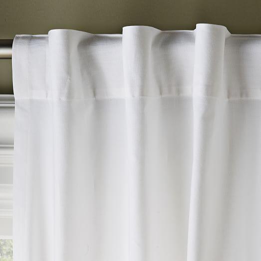 Cotton Canvas Curtain - White