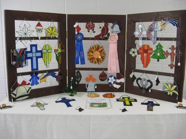 Displaying Stained Glass At Craft Shows