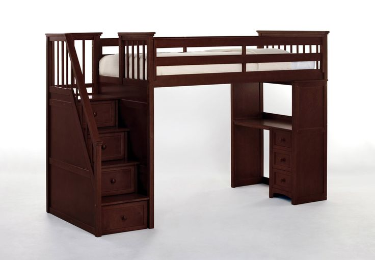 Summer Stair Loft Bed with Desk End