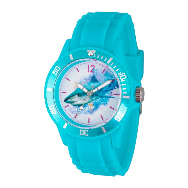 Women's Discovery Channel Shark Week Blue Plastic Watch - Blue