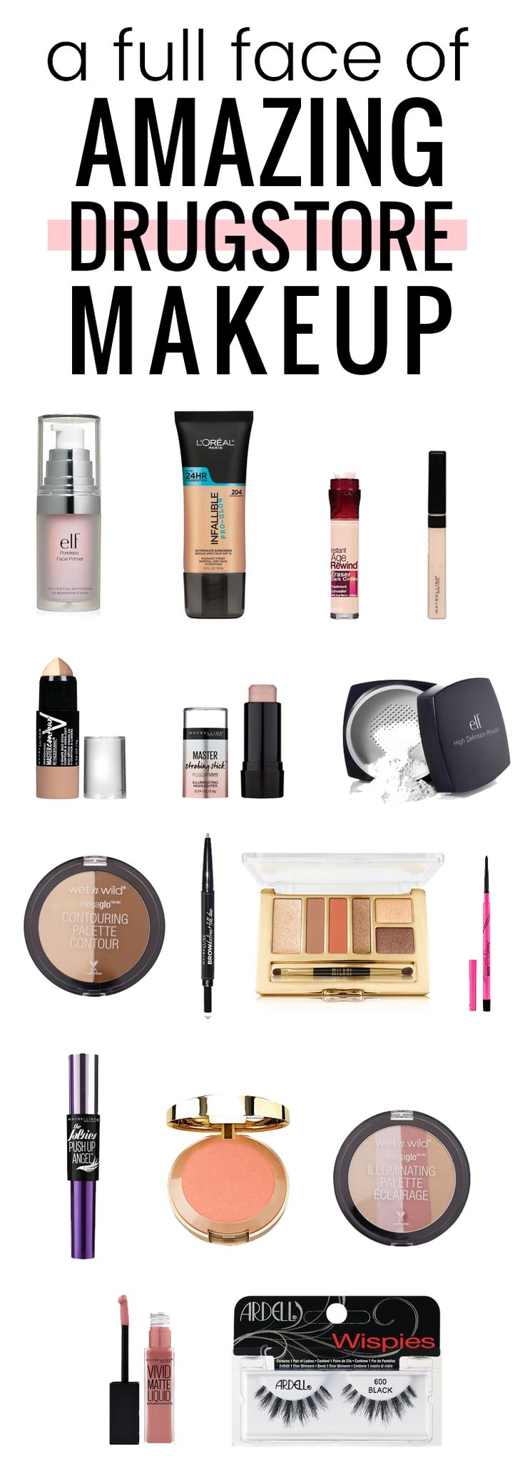 Drugstore Makeup Dupes: Get Ready With Me: Using Only Drugstore Makeup