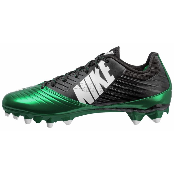 New $100 Nike Vapor Speed Low TD Mens Football Cleats Black Green - Size 10