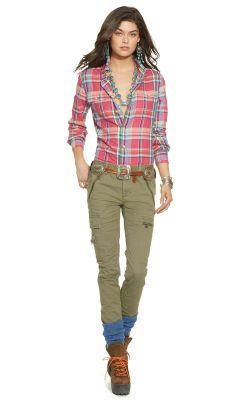 Stretch Skinny Cargo Pant - Polo Ralph Lauren Pants - RalphLauren.com