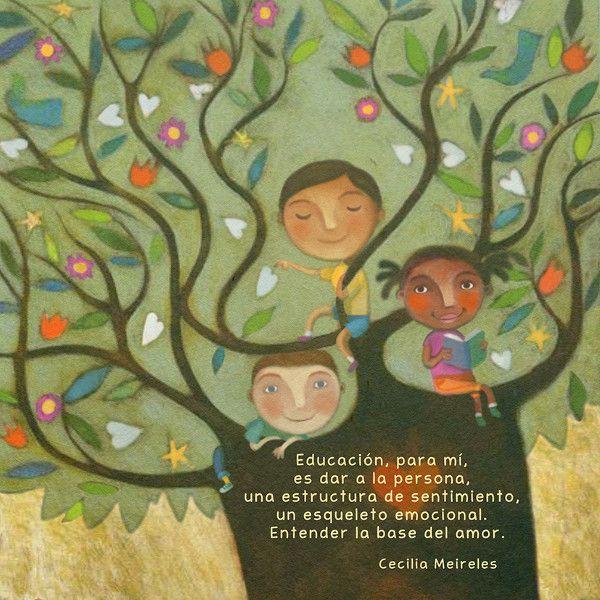 dibujo de niños en un árbol