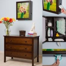 Windel by Upscale Mom is a gorgeous wall-mounted cabinet! Includes a 16 x 20 photo, it's a diaper and wipe dispenser and cabinet. Awesome for a nursery!