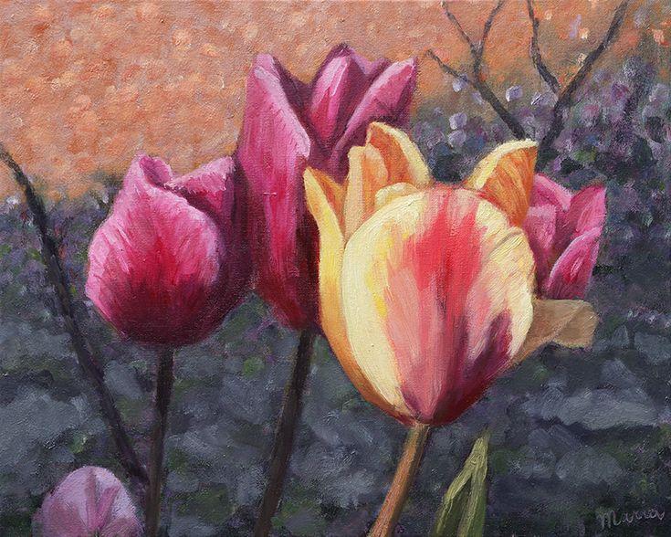 Tulips, 50 x 40cm, oil on canvas