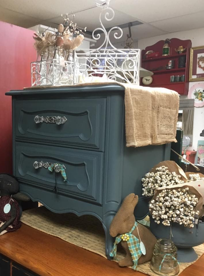 Colleen From Bangor Maine Used A New Chalk Paint Color Called Stormy Seas.