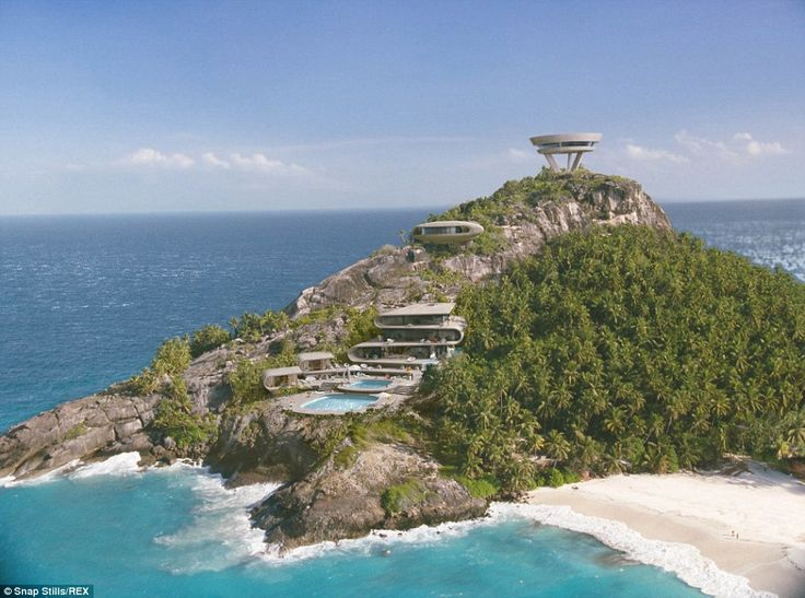 The real thing: The secret base of the International Rescue Organisation on Tracy Island which was featured in the 2004 Thunderbirds movie