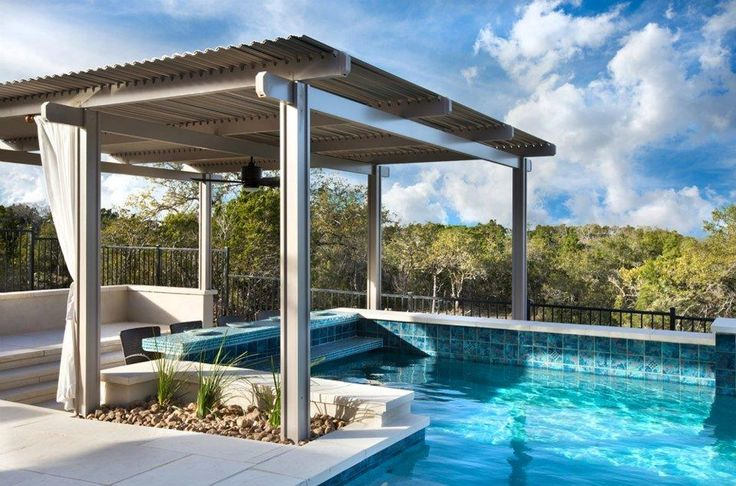 Swim up Bar under louvered Roof