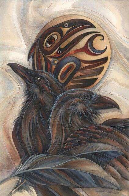 Dcaba Fb A A Bcf B Acd Raven Art The Raven on Tlingit Haida Animal Symbols