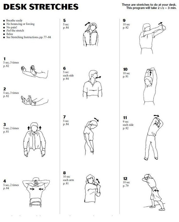 Stretching Exercises At Your Desk