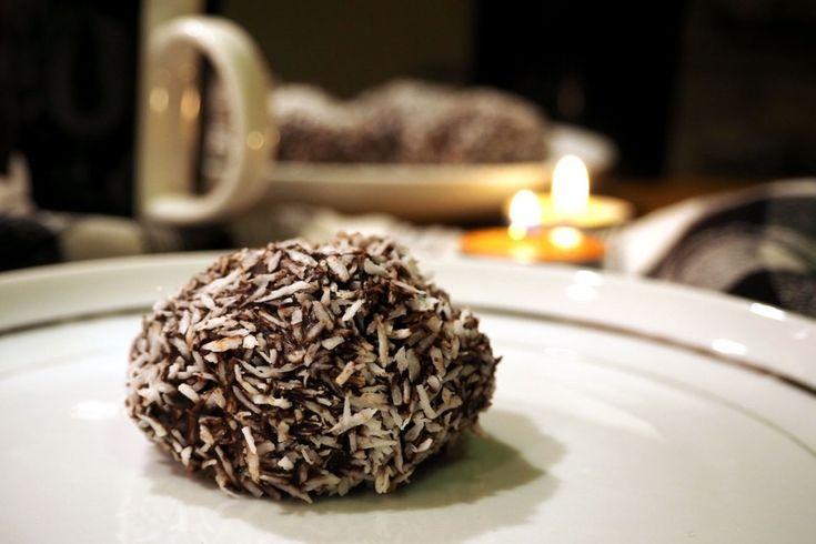 Swedish chocolate ball with chocolate and coconut coating