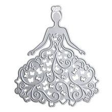 Romantic Princess Girl Pattern Metal Cutting Dies Stencils Template for…