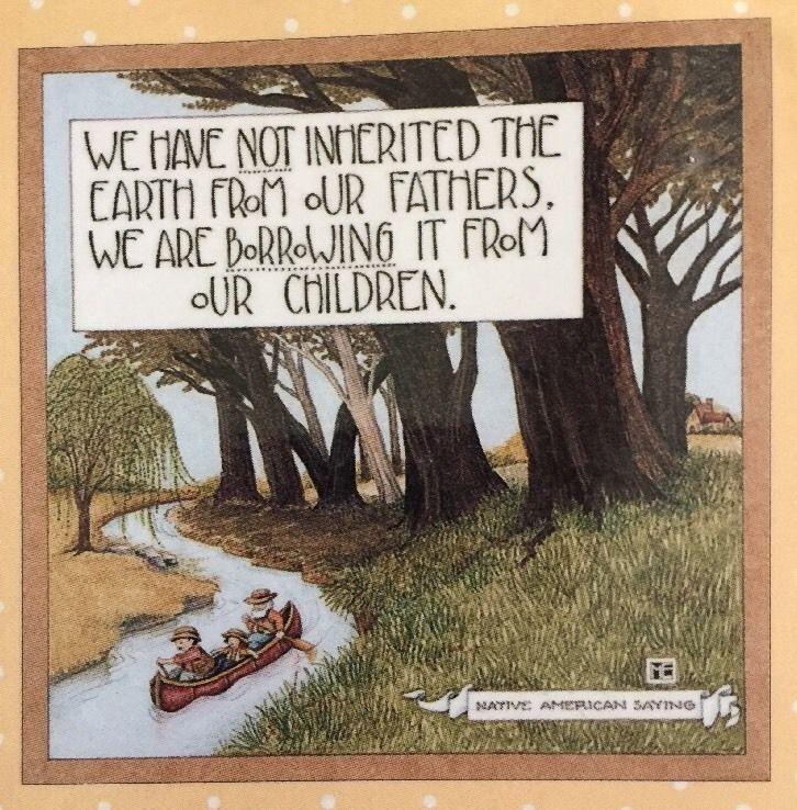 Handmade Fridge Magnet-Mary Engelbreit Artwork-We Have Not Inherited The Earth