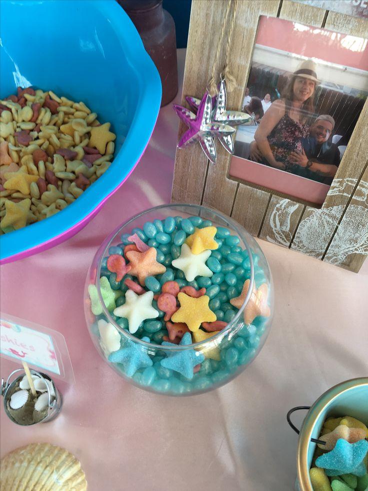 Baby Shower Mermaid Jelly Bean Starfish Fish Bowl