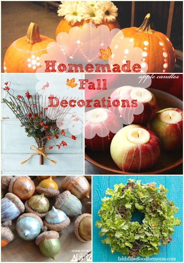 Super easy and beautiful homemade fall decorations to make for Homemade thanksgiving decorations for the home