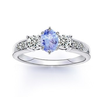Angara Enhanced Blue Diamond Solitaire Ring(5.8mm)