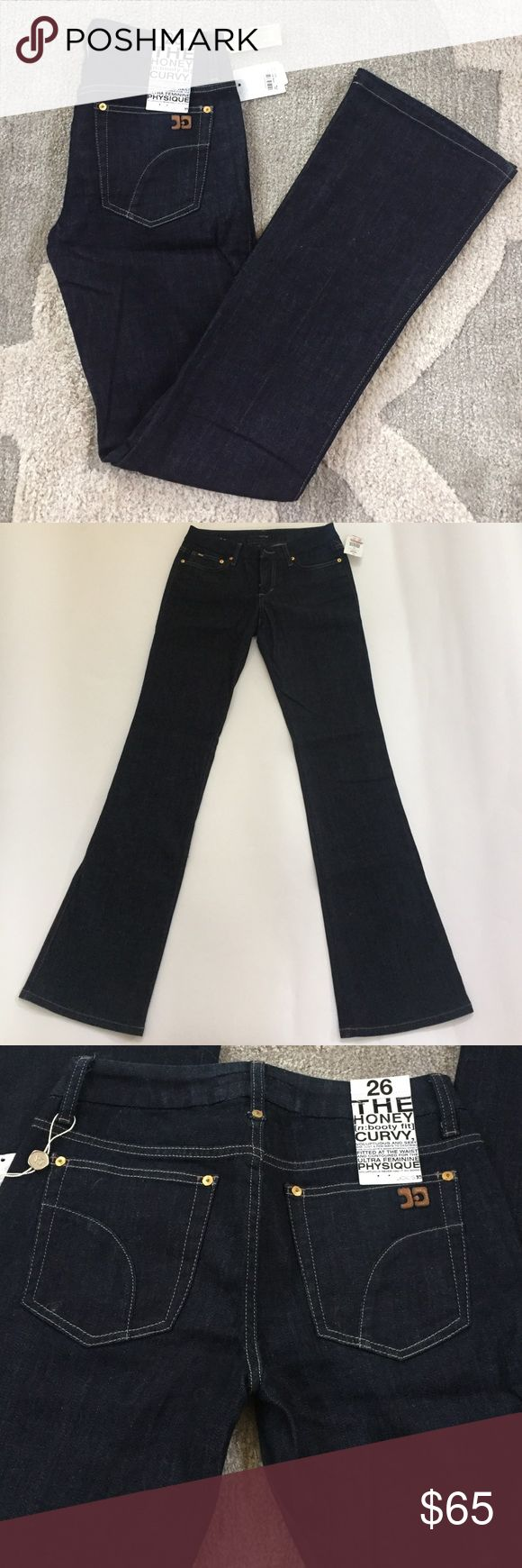 Joes Jeans The Honey Bootcut Curvy Jean Joes Jeans The Honey Bootcut Curvy Jean, dark wash, very comfortable, soft denim feel, new with tags, never worn, smoke free home, excellent, perfect condition Joe's Jeans Jeans Boot Cut