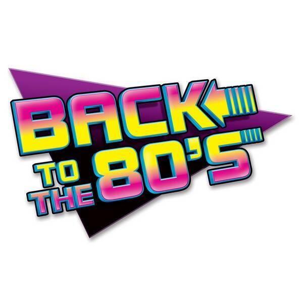 Een grote decoratie in jaren 80 stijl! Afmeting: 38 x 60cm. Perfect voor jaren 80 en disco <br>themafeesten! foto 1
