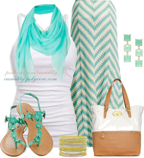 Summer OutfitMint Green, Summeroutfit, Style, Modcloth Shoes, Fashionista Trends, Summer Outfits, Chevron Maxi, Chevron Skirt, Maxis Skirts