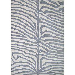 Hand-tufted Safari Grey Wool Rug (5' x 8')Alliyah Rugs, Area Rugs, Zebras Rugs, Safari Rugs, Living Room, Zebras Prints, Wool Rugs, Blends Wool, New Zealand