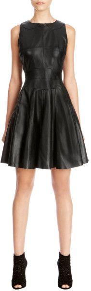 karen-millen-black-cute-leather-dress-#nomoreshopping