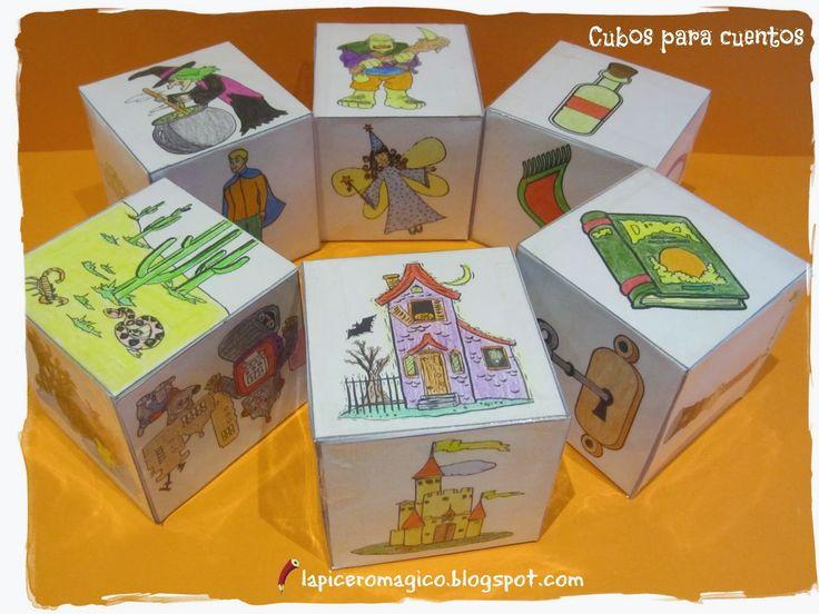 Os voy a hablar de un recurso que, hasta ahora, no había comentado en el blog, por ser poco novedoso: se trata de los Story cubes ...