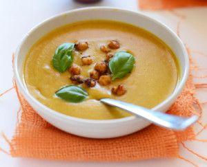 Суп из сладкого картофеля на кокосовом молоке