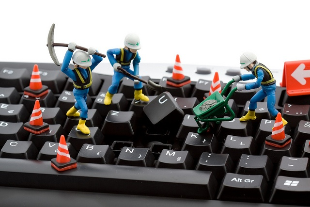 computer repair concept - workers repairing keyboard     Be comfortable and productive while you work ...