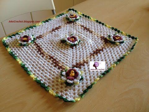 Jeke Crochet: Paso a paso - Tapete Pasión Floral - Crochet o Ganchillo