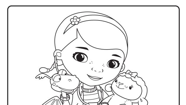 doc mcstuffins coloring pages to print - doc and friends printable coloring page coloring book