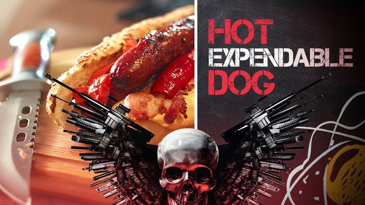 Hot-dog de salsicha alemã na cerveja preta