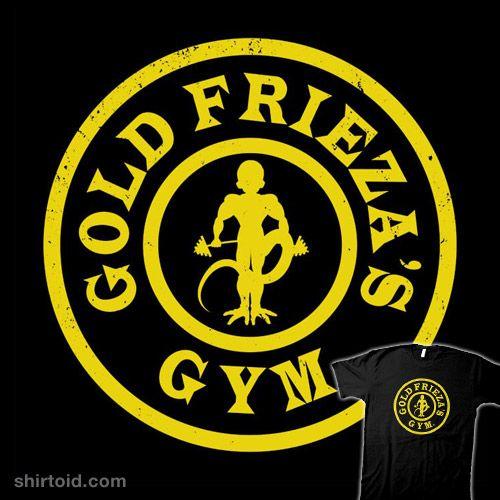 Gold Frieza's Gym   Shirtoid #anime #boggsnicolas #dragonball #dragonballz #frieza #goldsgym #gym #tvshow
