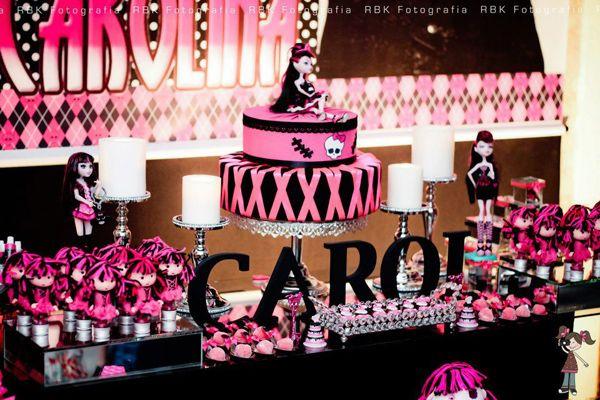 Monster High 8 Birthday Party via Idéias do partido de Kara |. Kara'sPartyIdeas com # monstro # alta # birthday party (15)