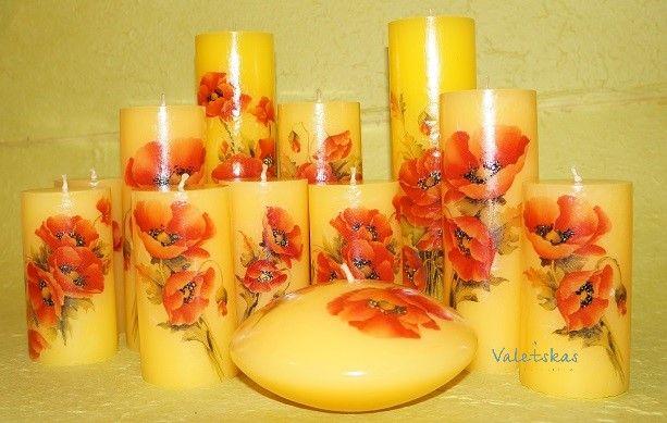 Очень хорошая комбинация цветов получилась )))😊😊😊На желтых свечах - ярко красные маки! Жизнерадостно смотрятся, как в комплекте, так и поштучно, прям придают настроение ) ... Весна же уже ! #Свечиназаказ #свечиручнойработы #свечиподарочные #свечислоготипом #упаковкаподарков #продажасвечй #свечисдекором #уютныйдом #декор #подарки #дизайн #дизайнинтерьеров #дизайнофисов #длясвадьбы #оформление #интерьер #теплоиуют #офомлениесвадьбы #декордлядома #ручнаяработа #моиработы #handmade…