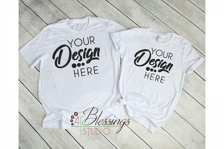 Download Mens Womens Couple Tshirt Mockup Bella Canvas 3001 Unisex 144054 Mockups Design Bundles Clothing Mockup Tshirt Mockup Shirt Mockup