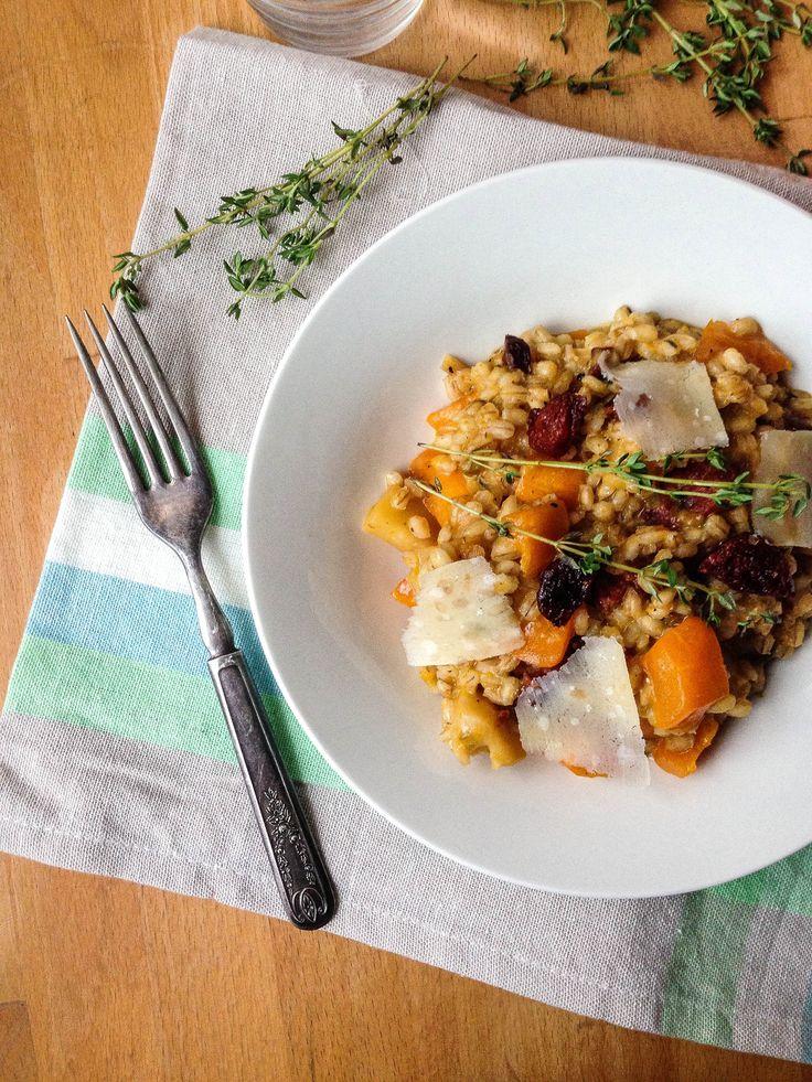 Delicious low calorie pumpkin and chorizo risotto