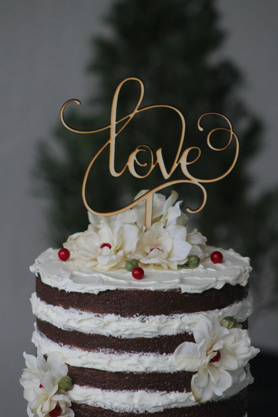 Rustic love Wooden Wedding Cake topper The love sing is made of 1/8 wood (laser cut). The stick is not removable. The sign love is shown on 7W * 7T