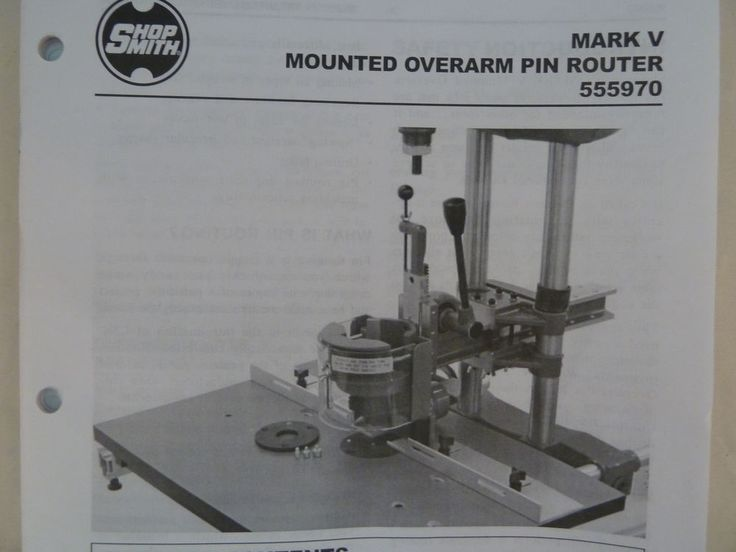 Shop Smith Mark V Mounted Overarm Pin Router 555970 New in Open Box #Shopsmith