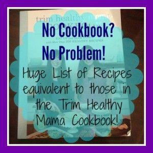 Trim Healthy Mama Cookbook round up