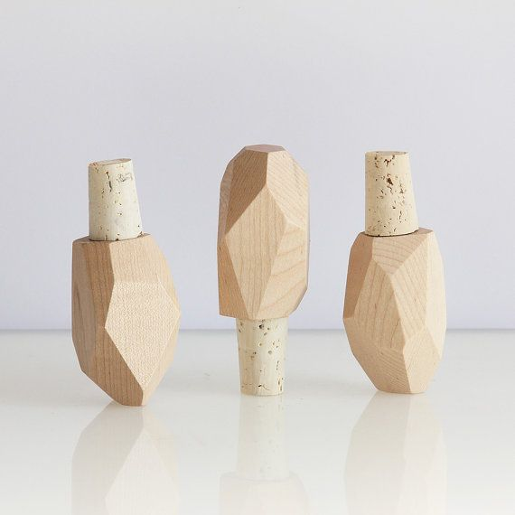 Bottle Rock faceted maple and cork wine bottle by BrightonExchange