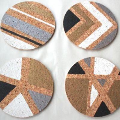 DIY Cork Coasters {Coasters}